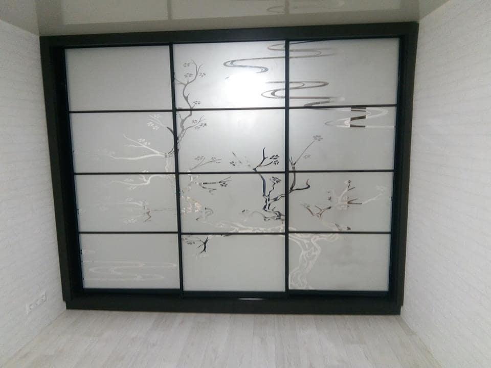 Встроенный шкаф купе венге