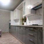 Кухня МДФ серый глянец